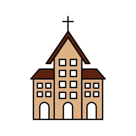 church building christian religion architecture vector illustration Фото со стока