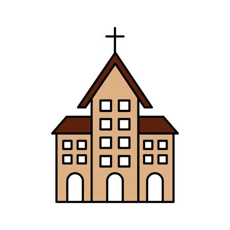 church building christian religion architecture vector illustration Stok Fotoğraf