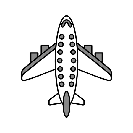 airplane transport commercial passenger business vector illustration Stock Photo