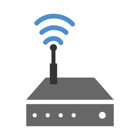 router wifi isolated icon vector illustration design Stock fotó - 85728991