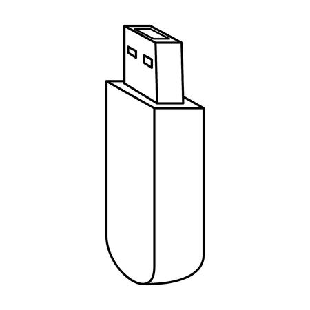 usb memory isolated icon vector illustration design