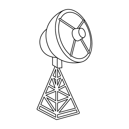 satellite antenna isolated icon vector illustration design