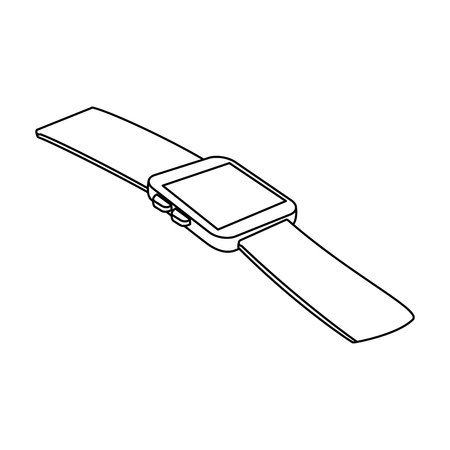 wristwatch clock isolated icon vector illustration design Illustration