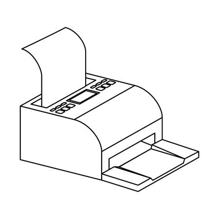 receipts printer pos icon vector illustration design