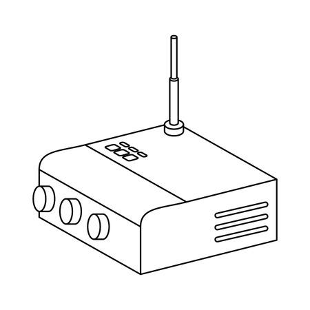 ルータ wifi 分離アイコンベクトルイラストデザイン