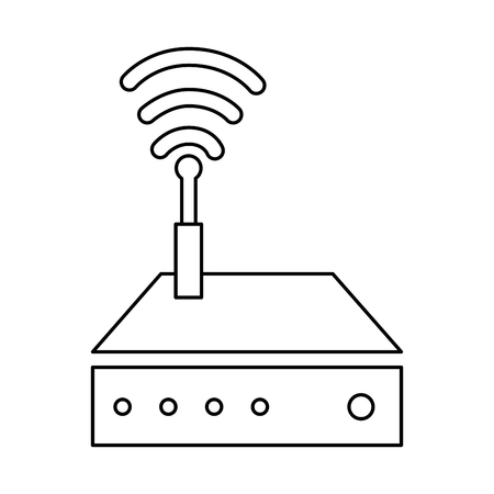 router wifi isolated icon vector illustration design Фото со стока - 85729048