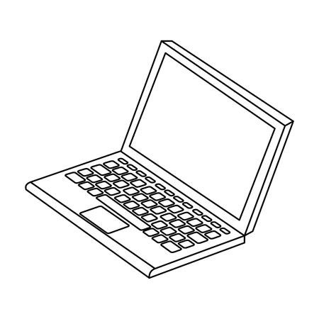 laptop computer geïsoleerd pictogram vectorillustratieontwerp Vector Illustratie