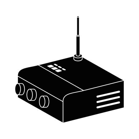 라우터 wifi 격리 된 아이콘 벡터 일러스트 레이 션 디자인 스톡 콘텐츠 - 85729015