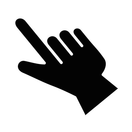 pointer hand index isolated icon vector illustration design Banco de Imagens - 85729068