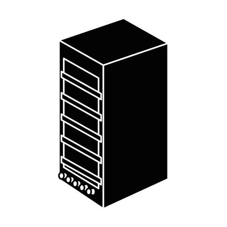 タワーコンピュータ分離アイコンベクトルイラストデザイン