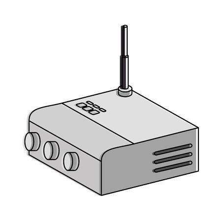 Routeur wifi isolé icône illustration vectorielle conception Banque d'images - 85729153