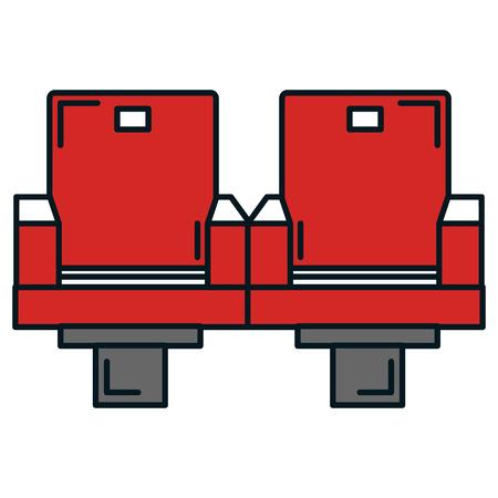 시네마 의자 격리 된 아이콘 벡터 일러스트 디자인