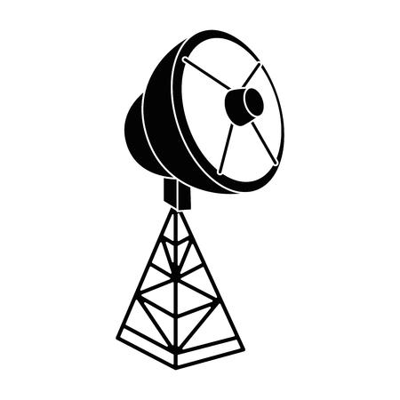 Antenne satellite isolée icône du design d & # 39 ; illustration vectorielle Banque d'images - 85729186