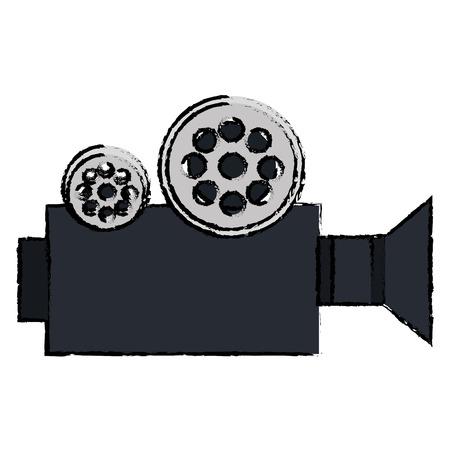 フィルムビデオカメラアイコンベクトルイラストデザイン  イラスト・ベクター素材