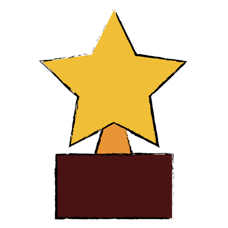 sports equipment: star trophy isolated icon vector illustration design