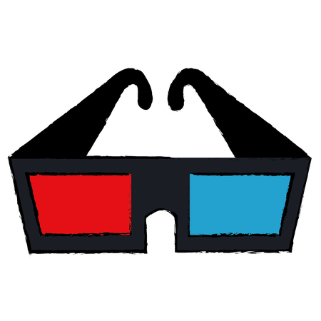 3d glasses isolated icon vector illustration design