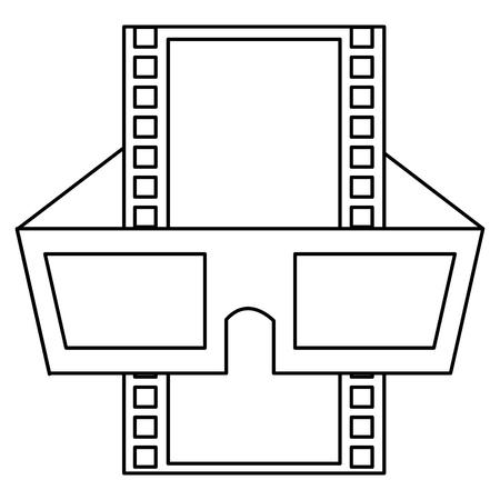 tape film with glasses 3d vector illustration design Illustration