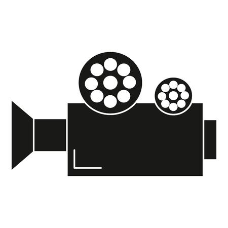 필름 비디오 카메라 아이콘 벡터 일러스트 디자인