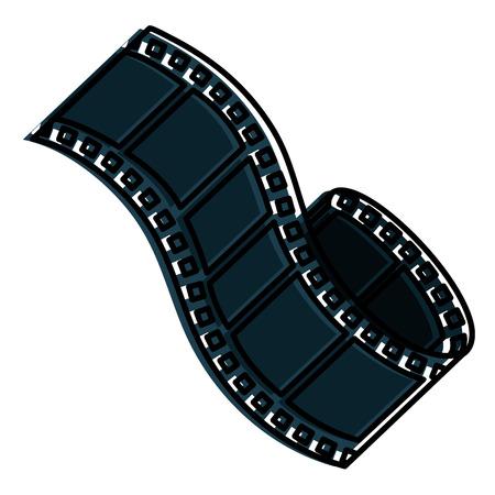 테이프 필름 격리 된 아이콘 벡터 일러스트 디자인 일러스트