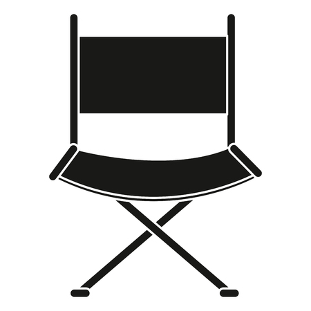 film industry: director chair isolated icon vector illustration design Illustration