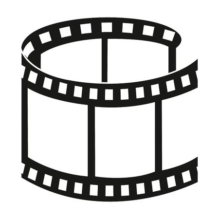 tape film geïsoleerd pictogram vector illustratie ontwerp Stock Illustratie