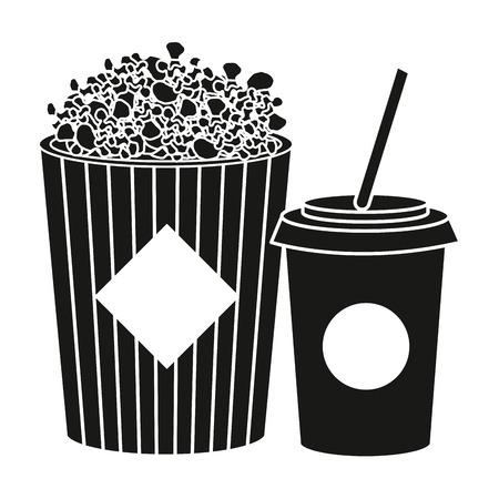 pop graan met ontwerp van de soda het vectorillustratie