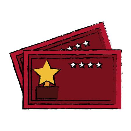 cinema tickets isolated icon vector illustration design