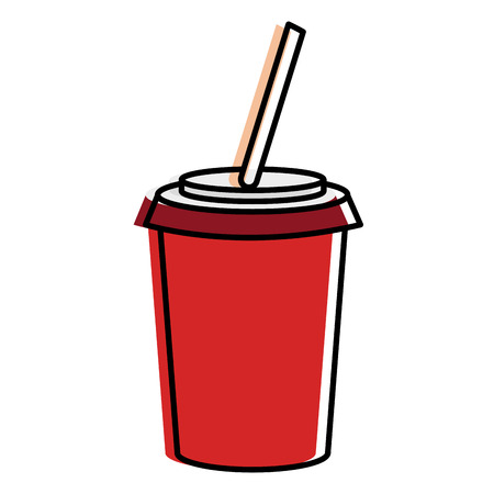 soda cup isolated icon vector illustration design