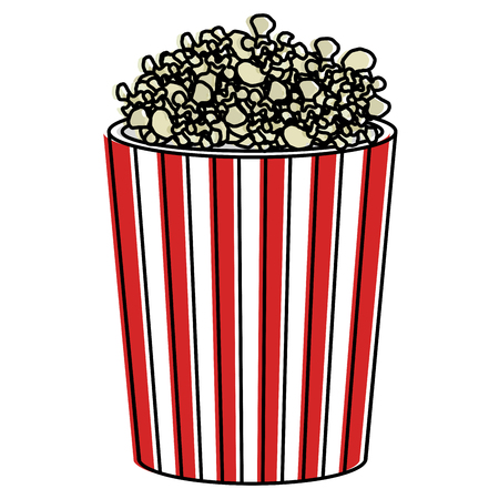 pop corn isolated icon vector illustration design Ilustração