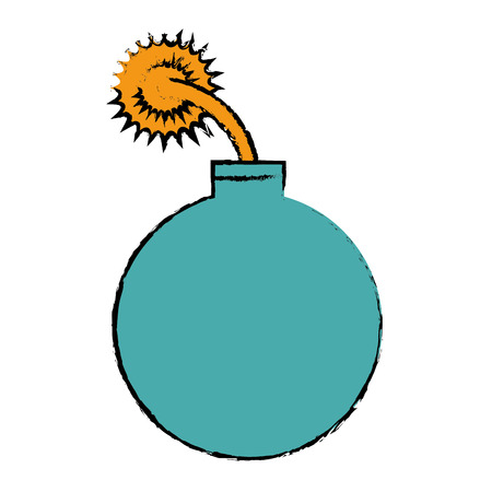 explosief geïsoleerd pictogram vector illustratieontwerp Stock Illustratie