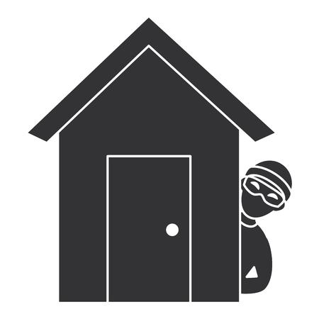 Dieb gefährlich im Haus avatar Charakter Vektor-Illustration Design Standard-Bild - 85729849