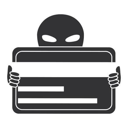 alien with credit card vector illustration design