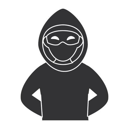 Dieb gefährlicher Avatar Charakter Vektor-Illustration Design Standard-Bild - 85729853