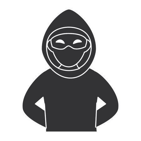 dangerous man: thief dangerous avatar character vector illustration design