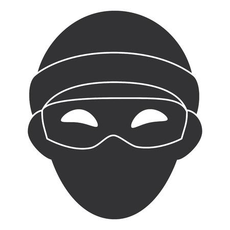 Dieb gefährlicher Avatar Charakter Vektor-Illustration Design Standard-Bild - 85729855