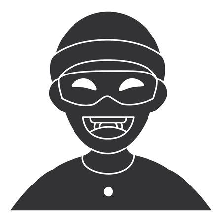Avatar-Charaktervektor-Illustrationsdesign des Diebes gefährlicher Standard-Bild - 85729949