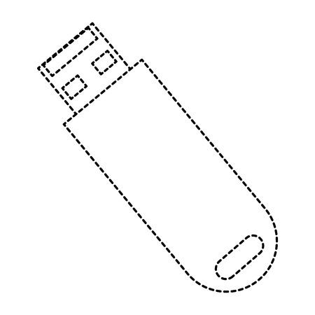 USB 메모리 격리 아이콘 벡터 일러스트 디자인