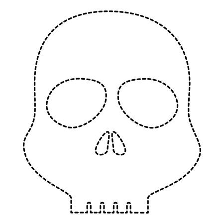 skull alert symbol icon vector illustration design Imagens - 85729964