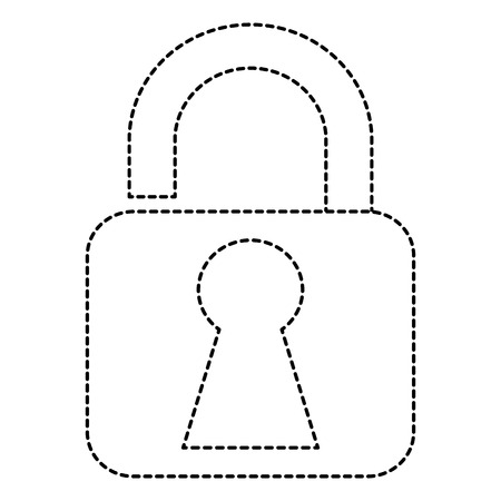 private security: safe padlock isolated icon vector illustration design Illustration