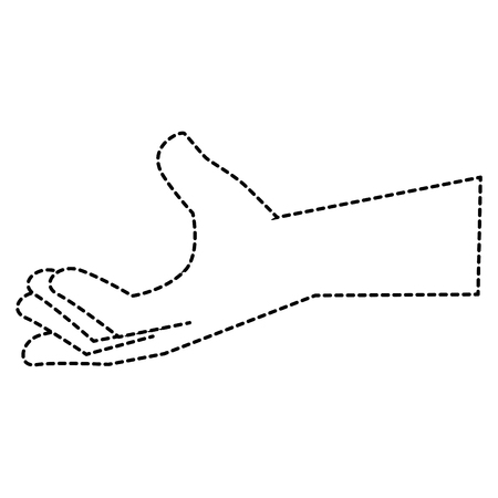 hand human isolated icon vector illustration design Ilustração