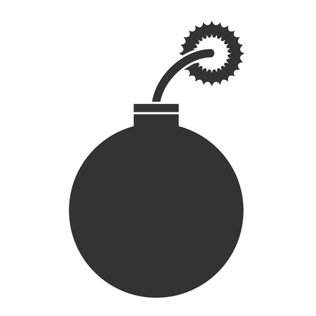 boom explosive isolated icon vector illustration design Illustration