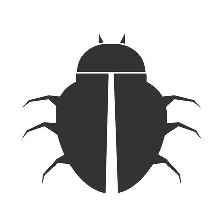 spider virus infectie pictogram vector illustratie ontwerp Stock Illustratie