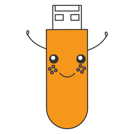 usb memory character vector illustration design