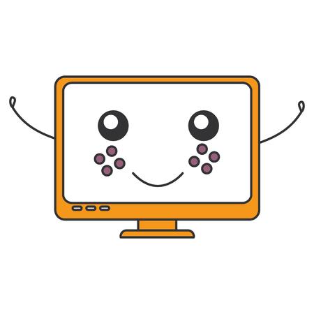 monitor: computer display character vector illustration design