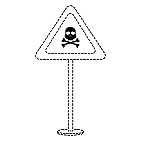 skull alert symbol icon vector illustration design Çizim