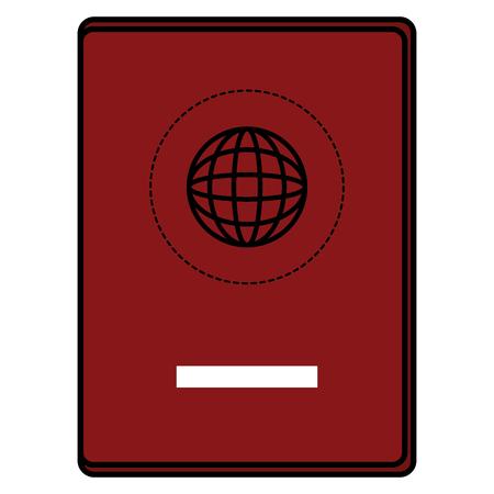 Documento de pasaporte aislado icono de ilustración vectorial de diseño Foto de archivo - 85730225