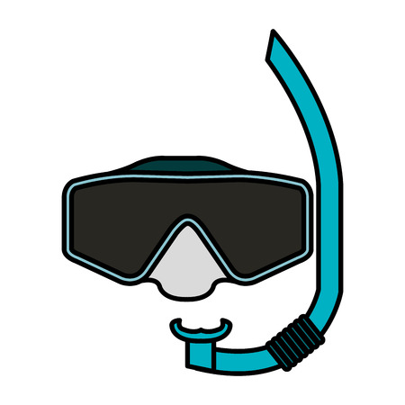 sports equipment: snorkel and goggles isolated icon vector illustration design