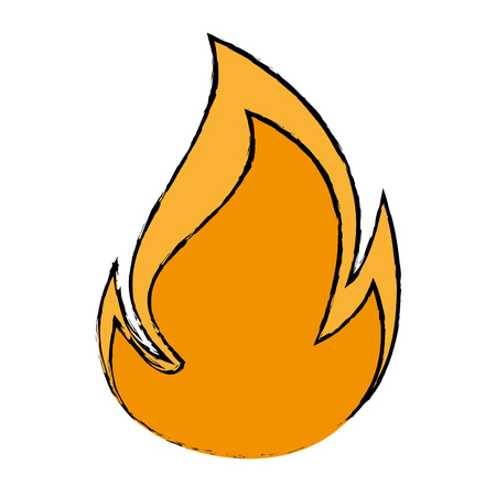 Vuur vlam geïsoleerd pictogram vector illustratie ontwerp