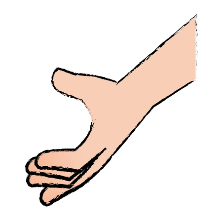 손 인간의 고립 된 아이콘 벡터 일러스트 디자인