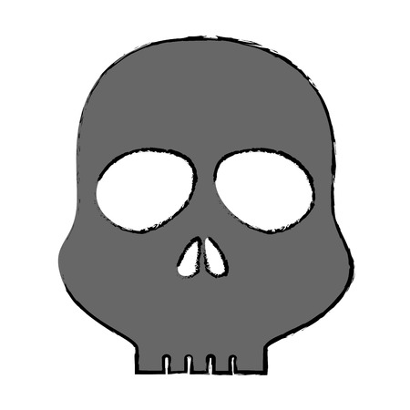 skull alert symbol icon vector illustration design Ilustração